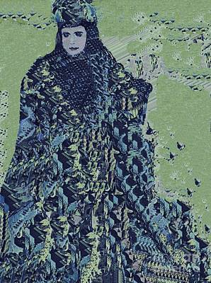 Digital Art - Princess In Blue by Nancy Kane Chapman