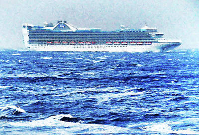 Photograph - Princess In Rough Seas by Dennis Cox WorldViews