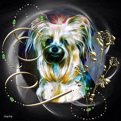 Terrier Digital Art - Princess by Kathy Kelly