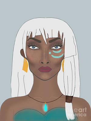 Atlantis Drawing - Princess Kidagakash  by Tyeshia Williams