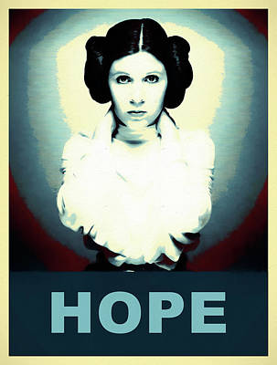 Comics Royalty-Free and Rights-Managed Images - Princess Leia Hope by Dan Sproul