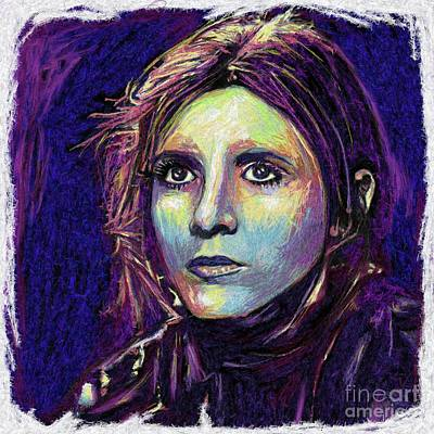 The Empire Strikes Back Digital Art - Princess Leia by Julianne Black