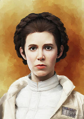 Painting - Princess Leia  by Michael Greenaway
