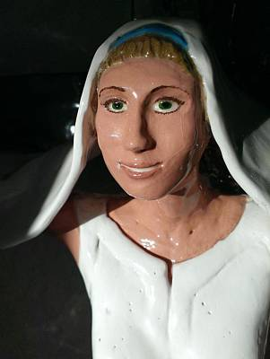 Ceramic Art - Princess Of Peace by Frederick Dost
