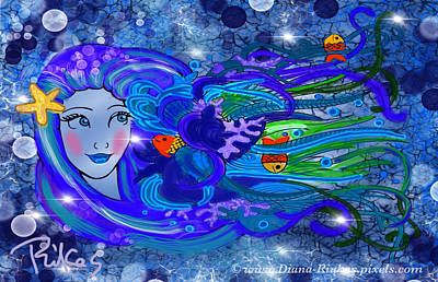 Digital Art - Princess Of The Sea by Diana Riukas