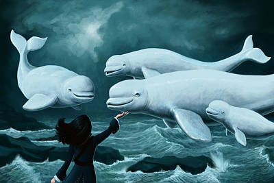 Beluga Whale Digital Art - Princess Of Whales by Mark Zelmer