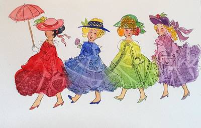 Princess Parade Art Print by Marilyn Jacobson
