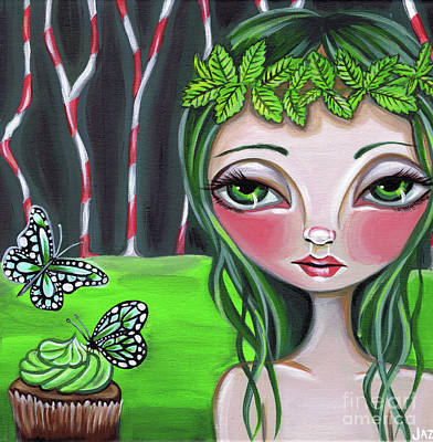 Pop Surrealism Painting - Princess Peppermint by Jaz Higgins