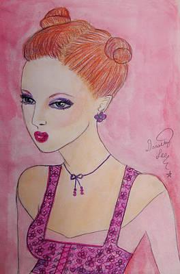 Princess Pout Art Print by Dorothy Lee