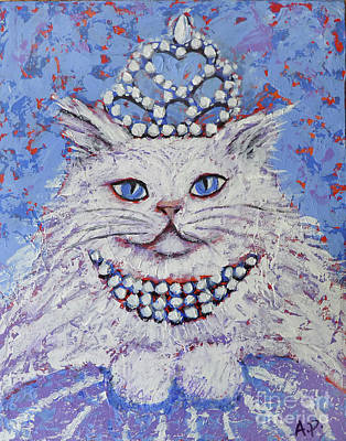 Painting - Princess Pussy Cat by Audrey Peaty