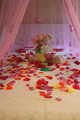 Bed Spread Photograph - Princess Teddy by Marie Neder