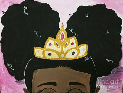 Painting - Princess by The Pour Artist NJ