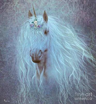 Digital Art - Princess Unicorn by Ali Oppy