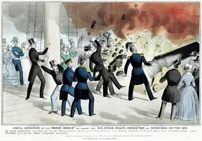 Photograph - Princeton Explosion, 1844 by Nathaniel Currier