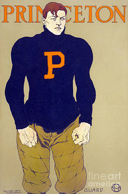 Painting - Princeton Football by Granger