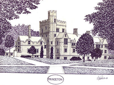 Drawing - Princeton by Frederic Kohli
