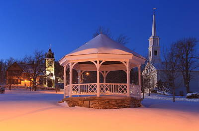 Photograph - Princeton Massachusetts Town Common In Winter by John Burk