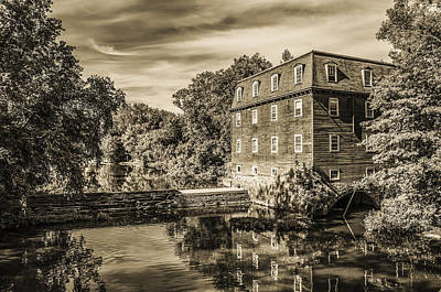 Princeton New Jersey - Kingston Mill In Sepia Art Print