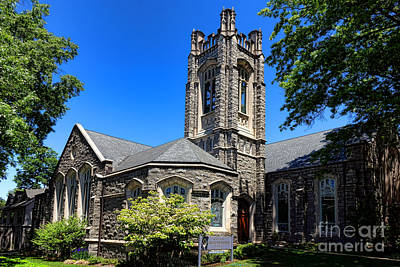 Princeton United Methodist Church    Art Print by Olivier Le Queinec