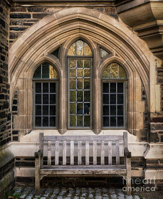 Photograph - Princeton University Bench by Jerry Fornarotto