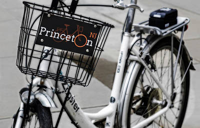 Photograph - Princeton University Campus Bike by Susan Candelario