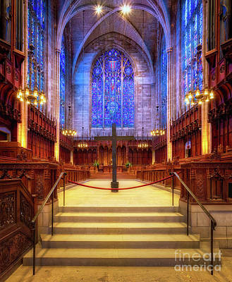 Photograph - Princeton University Chapel Nave by Jerry Fornarotto