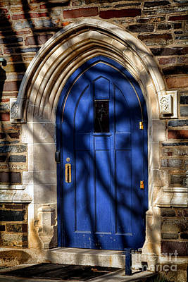 Photograph - Princeton University Dorm Building Door by Olivier Le Queinec