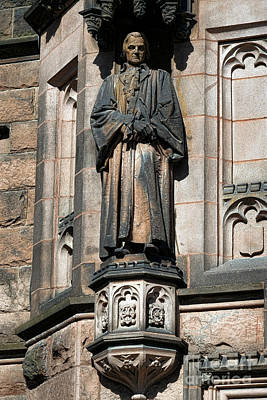 Princeton University J Witherspoon Statue  Art Print by Olivier Le Queinec