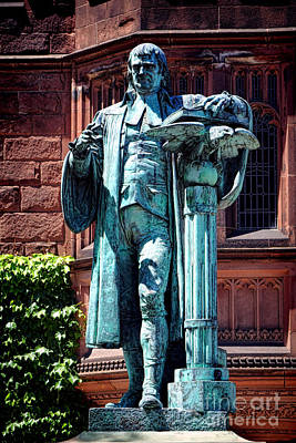 Nj Photograph - Princeton University John Witherspoon Statue by Olivier Le Queinec