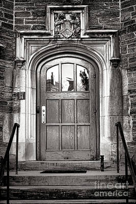 Photograph - Princeton University Little Hall Entry Door by Olivier Le Queinec