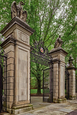Photograph - Princeton University Main Entrance Gate by Susan Candelario