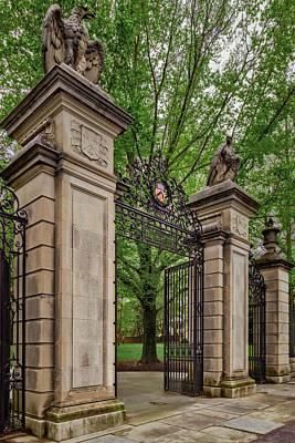 Photograph - Princeton University Main Entrance Gate by Susan Candelario