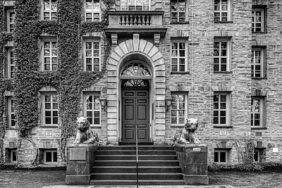 Photograph - Princeton University Nassau Hall Bw by Susan Candelario