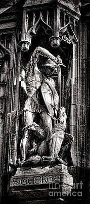Photograph - Princeton University Saint George And Dragon Sculpture by Olivier Le Queinec