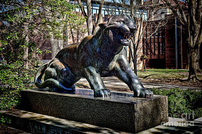 Photograph - Princeton University Tiger Statue by Olivier Le Queinec