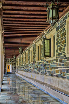 Photograph - Princeton University Whitman College Hallway by Susan Candelario