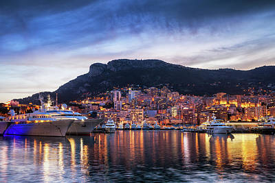 Photograph - Principality Of Monaco Evening Skyline by Artur Bogacki