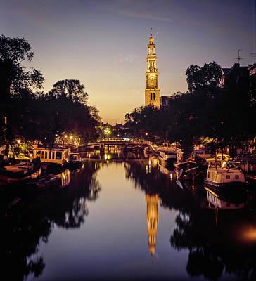 Photograph - Prinsengracht, Evening by David Halperin