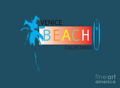 Venice Beach Digital Art - Venice Beach California T-shirts And More by K D Graves