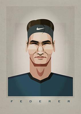 Federer Art Print by Right Brain