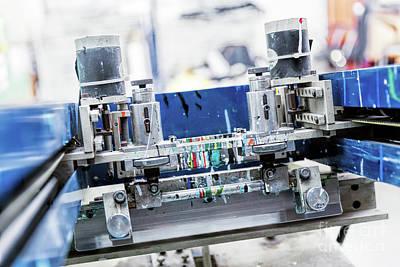 Equipment Photograph - Print Screening Metal Machine. by Michal Bednarek