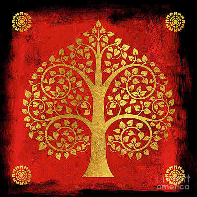 Bodhi Tree Digital Art - Bodhi Tree No.9 by Bobbi Freelance
