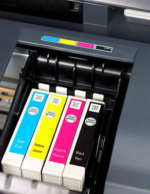 Component Mixed Media - Printer Ink Cartridges by Boyan Dimitrov