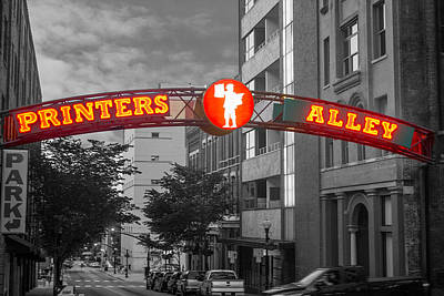 Photograph - Printers Alley Sign by Robert Hebert