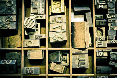 Photograph - Printers Block by Colleen Kammerer