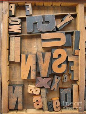 Photograph - Printers Box by Glenda Zuckerman
