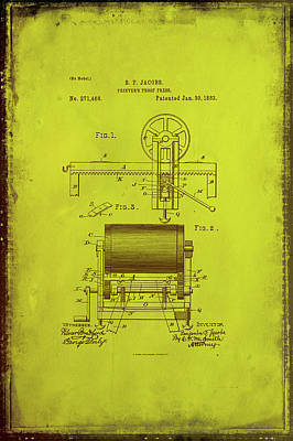 Printers Proof Press Patent Drawing 1b Art Print by Brian Reaves