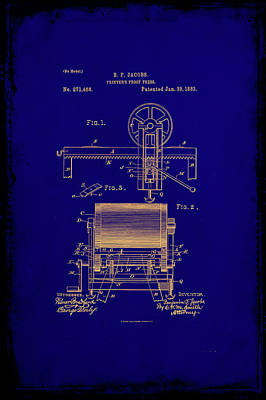 Printers Proof Press Patent Drawing 1c Art Print by Brian Reaves