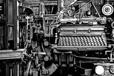 Typewriter Photograph - Printing Press by Kenneth Mucke
