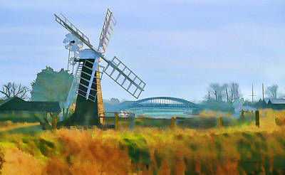 Priory Windmill Art Print